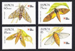 Samoa Hawkmoths 'PHILANIPPON '91' Exhibition 4v SG#868-871 SC#797-800