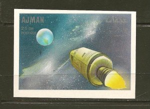 Ajman Apollo Space Ship 25DH Imperforated Stamp MNH