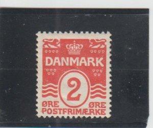 Denmark  Scott#  58  MH  (1905 Wavy Lines)
