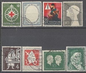 COLLECTION LOT # 2329 GERMANY 8 STAMPS 1953+ CV+$24