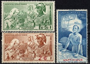 Martinique #CB1-3 F-VF Unused CV $2.80 (X5662)