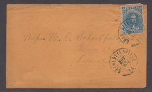 **CSA Cover, SC# 2 Paterson, VF Charlottesville, VA, 11/27/1862, Enclosure