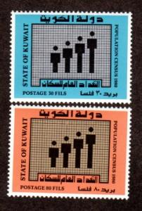Kuwait 809-810 Mint NH Census 1980!