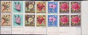 AUSTRALIA 1968 State Flowers set in corner blocks of 4 MNH...................752