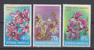 J29344, 1975 indonesia set mnh #944-6 flowers