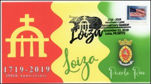 19-319, 2019, Loiza Puerto Rico, Pictorial Postmark, Event Cover, 300th Annivers