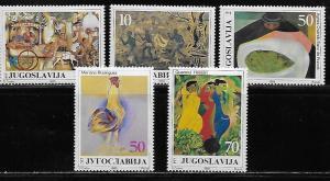 Yugoslavia 1759-63 Paintings set MNH