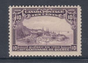 Canada Sc 101 MLH. 1908 10c View of Quebec, F-VF