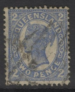 QUEENSLAND SG234 1897 2d BLUE USED