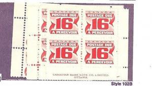 Canada #J37 M/S Plate Blocks  Mint VF  NH   - Lakeshore P...