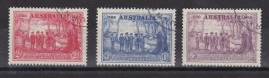 APD35) Australia 1937 NSW Sesqui. set CTO, ACSC Cat $42, Price $29