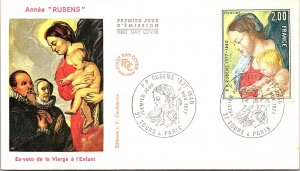 France, Worldwide First Day Cover, Art
