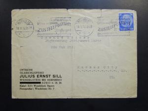 Germany 1936 Cover Slogan Cancel / Light Fold / Sm Top Tear - Z6365