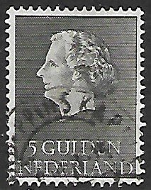 Netherlands # 363 - Queen Juliana 5Gld. - used....(P5)