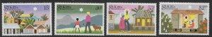 St. Kitts Scott 127-130 MNH Christmas Set of 1983