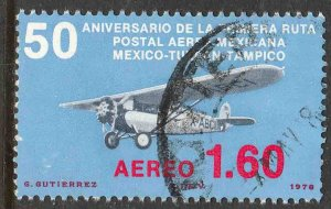 MEXICO C561, 50th Anniv 1st Air Mail Route.USED. F-VF.(758)