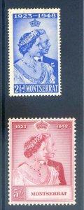 Montserrat 1948 Silver Wedding SG115/6 Mounted Mint