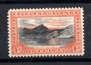 Falkland Islands 1933 4d black & orange mint VLHM SG132 WS18480