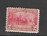 UNITED STATES, 329,  MINT HINGED, FOUNDING OF JAMESTOWN