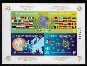 Bosniak #529e MNH IMP S/Sheet - Europa Stamps - 50th Anniversary (h)