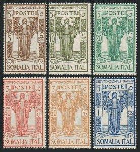 Somalia B11-B16, hinged. Michel 87-92. Italian Colonial Institute, 1926. PEACE.