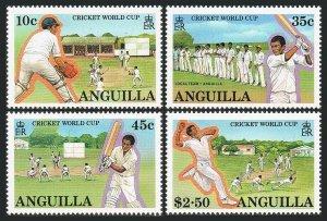Anguilla 740-743,744,MNH.Michel 763-766,Bl.77. Cricket World Cup,1987.