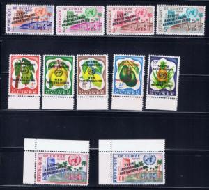Guinea 205-13 C27-28 1961 United Nations