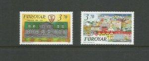 Faroe Islands 1991 125th Anniversary Of Torshavn As Capital UMM Set SG 208/9