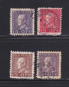 Sweden 190-193 Set U King Gustaf V