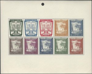 Dominican Republic 1953 Special Issue Folder & S.S. see Note after Scott #C86a