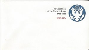 US U602  Mint  Stamped Envelope  The Great Seal of the US