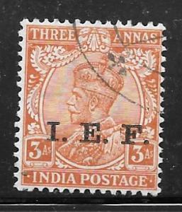 India M39: 3a George V Overprint, used, F-VF