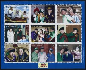 Gambia 2446-8 MNH Three Stooges, Curly, Telephone, Skull, Moe, Shemp, Larry