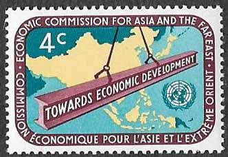UN New York SC 79 - Far East Map & Steel Beam - MNH - 1960