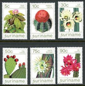 Suriname 697-702 Cactus flowers  MNH mint      (Inv 001313.)