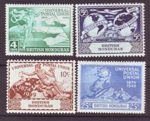 J22399 Jlstamps 1949 br honduras set mh #137-40 upu