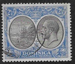 DOMINICA SC# 72  FVF/U 1928