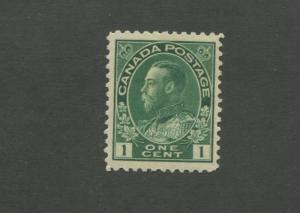 King George V 1911 Canada 1c Green Postage Stamp #104 Value $25