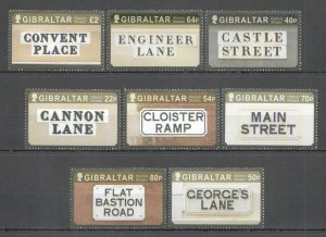 NW0043 2016 GIBRALTAR STREET NAME PLAQUES #1756-63 MICHEL 14,5 EURO 1SET MNH