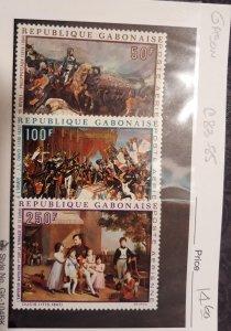 Gabon 1969 Napoleon Bonaparte, Scott # C83-C85, VF MNH**