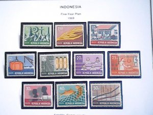 1969 Indonesia  MNH  full page auction