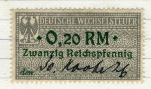 GERMANY; 1920s early Revenue issue fine used early value, 0.20RM