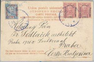 66009 - MONTENEGRO  - POSTAL HISTORY: POSTCARD to PRAGUE  1906