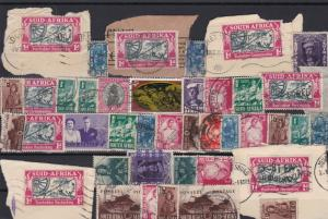 south africa on piece and used stamps ref r11635