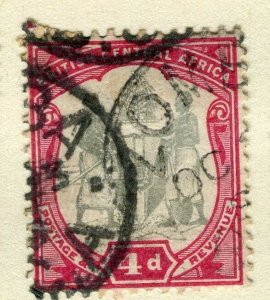 NYASALAND; 1897 early classic Central Africa. Wmk issue fine used 4d. value