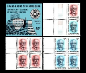 LUXEMBOURG 1986 Schuman, Politician. Architect of United Europe. Booklet, MNH