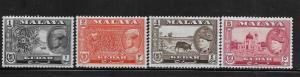 MALAYA, 95-98, MINT HINGED, TYPES OF 1957