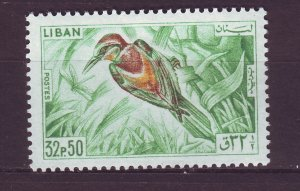 J24057 JLstamps 1965 lebanon hv of set mlh #439 bird