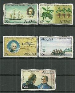 1989 Aitutaki 429-33 Bicentenary C/S MNH SCV$15.75