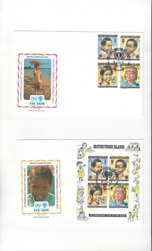 British Virgin Islands FDC International Year of the Child 1979 Official Cachet